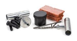 Комплект для ремонта автошины плоского автомобиля, комплект для ремонта штепсельной вилки автошины для безламповой автошины Стоковое фото RF
