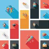 Комплект bakcground ui вечеринки по случаю дня рождения плоский Стоковое Фото