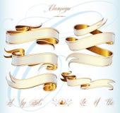 Комплект baner золота Стоковая Фотография RF