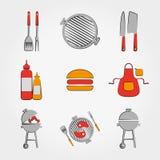 Комплект BBQ иллюстрация штока