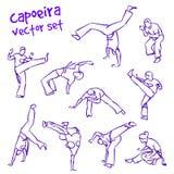 Комплект capoeira вектора Стоковые Фотографии RF