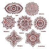 Комплект 7 chakras иллюстрация вектора