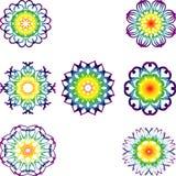 Комплект 7 chakras Иллюстрация штока