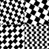 Комплект checkered/черно-белых картин Стоковое Изображение RF