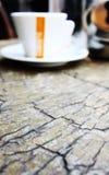 Комплект coffe в баре Стоковая Фотография RF