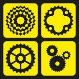 Комплект cogwheels велосипеда (или колес шестерни) Стоковое Фото