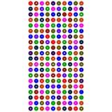 Комплект colorfuluniversal значков с кругом иллюстрация штока
