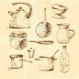 Комплект cookware векторной графики Стоковые Фотографии RF