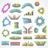 Комплект cororful дизайна вектора выравнивателя музыки бесплатная иллюстрация