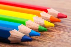 Комплект crayons цвета Стоковое фото RF