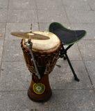 Комплект darbuka и барабанчика Стоковое Фото