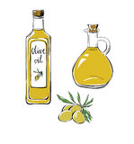 Комплект doodle возражает оливковое масло Бесплатная Иллюстрация