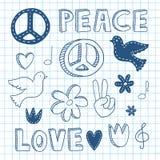 Комплект doodle мира Стоковая Фотография RF