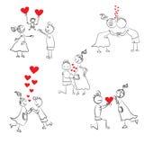 Комплект doodle пар Стоковое Изображение RF