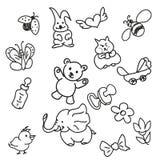 Комплект Doodles Стоковая Фотография RF
