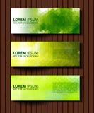 Комплект Eco заголовков с различным стилем 4 Стоковые Фото