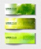 Комплект Eco заголовков с различным стилем 4 Стоковое Изображение RF