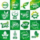 Комплект eco логотипов вектора Стоковое Фото