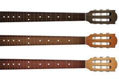 Комплект fretboard и headstock шеи гитары иллюстрация штока