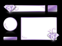 Комплект grafic элементов с диамантами Стоковая Фотография RF