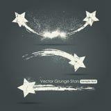 Комплект Grunge звезд стрельбы Стоковые Фотографии RF