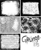 комплект grunge рамки Стоковые Изображения RF