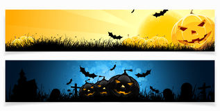 комплект halloween знамен Стоковые Изображения