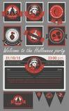 комплект halloween характера Стоковая Фотография