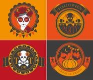 комплект halloween характера Стоковые Изображения RF