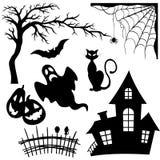 комплект halloween элементов Стоковое Изображение RF