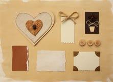 Комплект handmade бирок Стоковое Фото