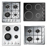 Комплект hob плиты кухни Стоковое фото RF