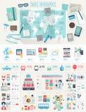 Комплект Infographic перемещения Стоковые Изображения
