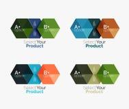 Комплект infographic шаблонов с текстом и вариантами Стоковая Фотография RF