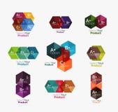 Комплект infographic шаблонов с текстом и вариантами Стоковое Изображение