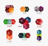 Комплект infographic шаблонов с текстом и вариантами Стоковое Фото