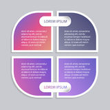 Комплект infographic шаблонов Стоковые Фотографии RF