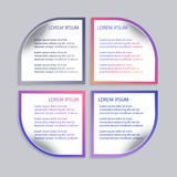 Комплект infographic шаблонов Стоковая Фотография