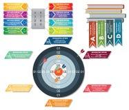 Комплект infographics вектора иллюстрация вектора