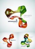 Комплект infographics дела волны Стоковое Изображение RF
