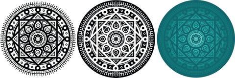 Комплект 3 mandals геометрии для книжка-раскраски сделайте по образцу кругом бесплатная иллюстрация