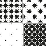 Комплект monochrome безшовной картины 4 с рождеством играет главные роли Иллюстрация вектора