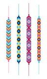 Комплект multicolor браслетов хиппи приятельства Стоковая Фотография RF