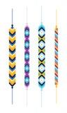 Комплект multicolor браслетов hippie приятельства Стоковое Изображение