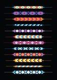 Комплект multicolor браслетов hippie приятельства Стоковое Фото