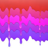 Комплект multicolor капания краски на предпосылке Стоковые Изображения