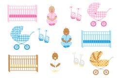 Newborn вещество 2 младенца иллюстрация штока