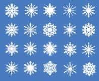 Комплект 20 openwork снежинок Стоковые Фотографии RF
