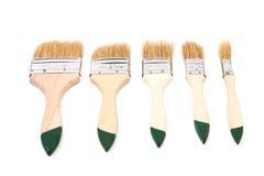 Комплект painbrushes изолированных на белой предпосылке Стоковая Фотография RF