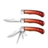 Комплект penknives иллюстрация вектора
